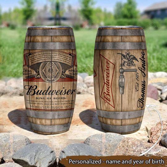 9 Budweiser King of Beer Custom Name and Year Tumbler 1