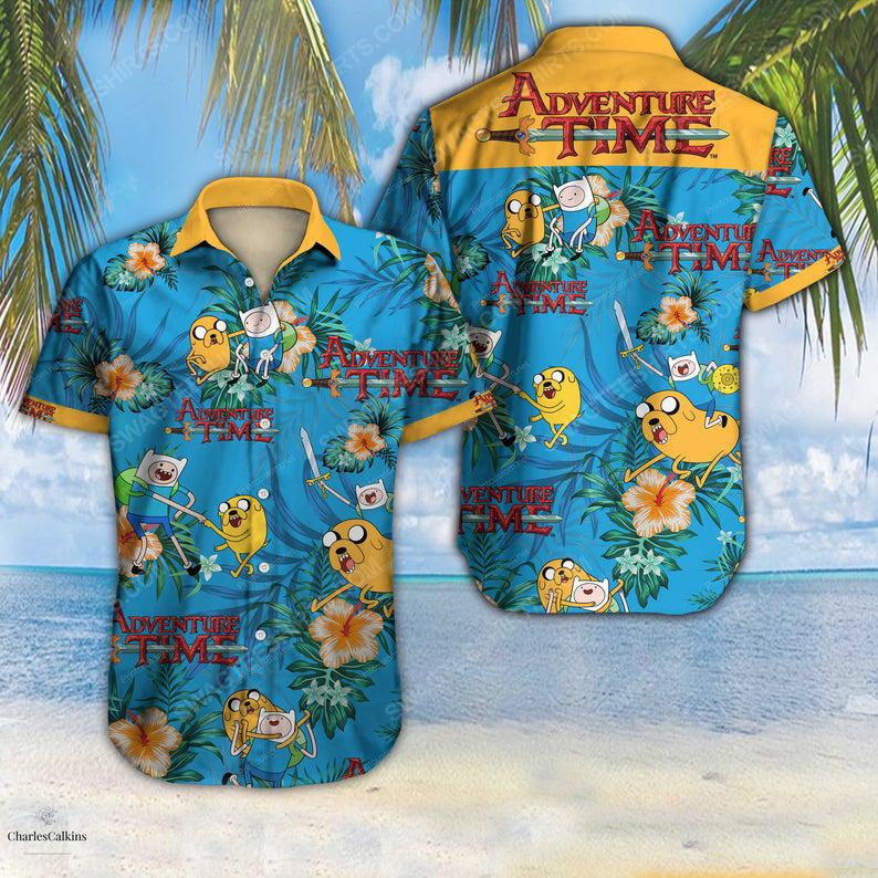 Adventure time cartoon network summer vacation hawaiian shirt 1