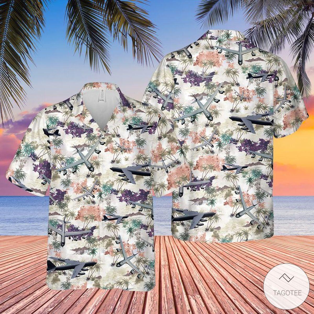 Air Force Boeing B 52 Stratofortress Hawaiian Shirt Beach Shorts