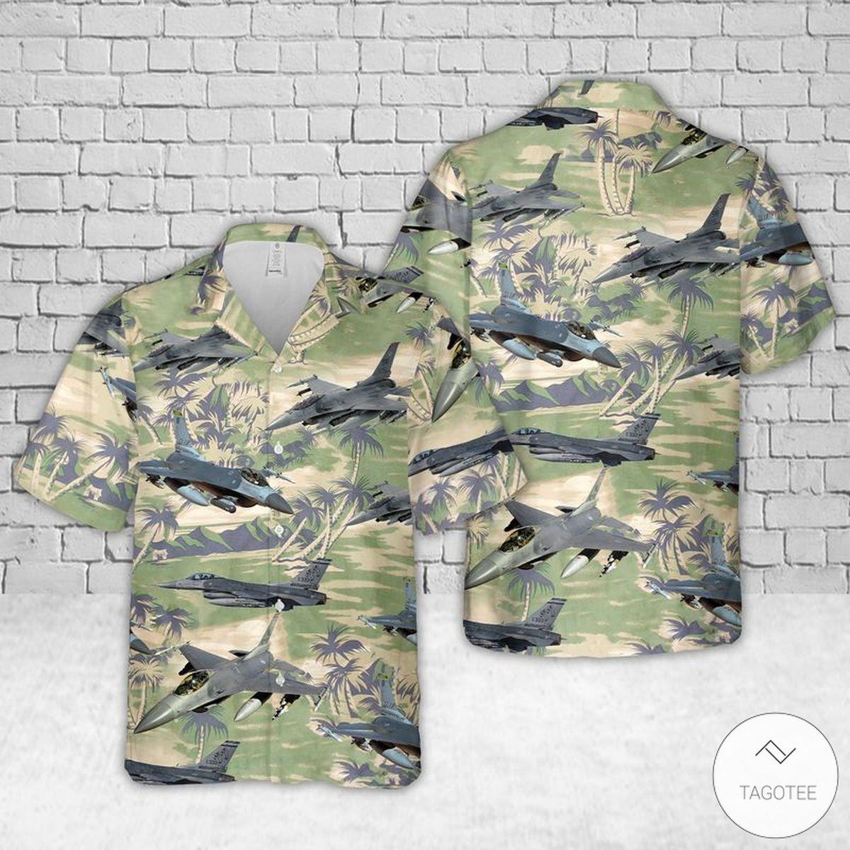 Air Force General Dynamics F 16 Fighting Falcon Hawaiian Shirt Beach Shorts