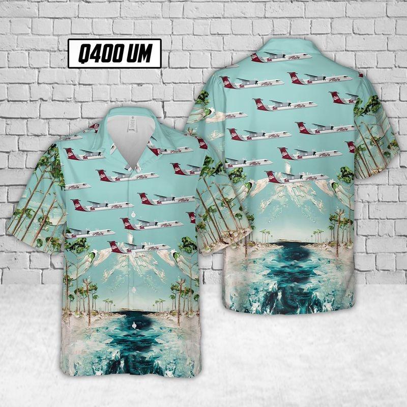 Alaska Airlines Q400 UM Hawaiian Shirt