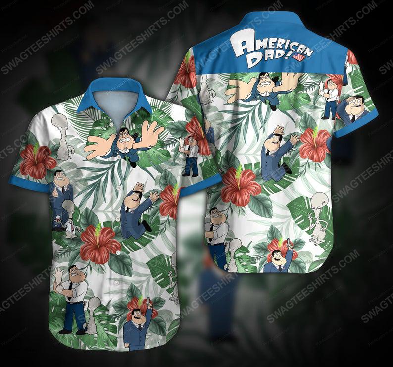 American dad stan smith cartoon summer vacation hawaiian shirt 1