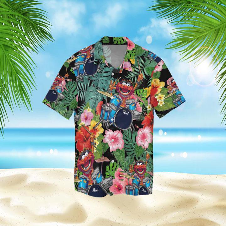 Animal Muppet drum hawaiian shirt