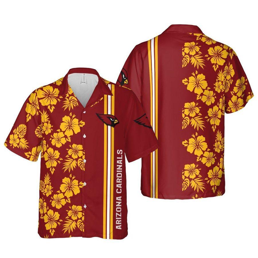 Arizona cardinals nfl football hawaiian shirt summer casual short sleeve