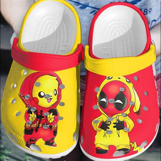 Baby Deadpool and Pikachu crocs clog crocband