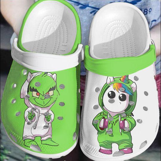 Baby Stitch and unicorn crocs clog crocband