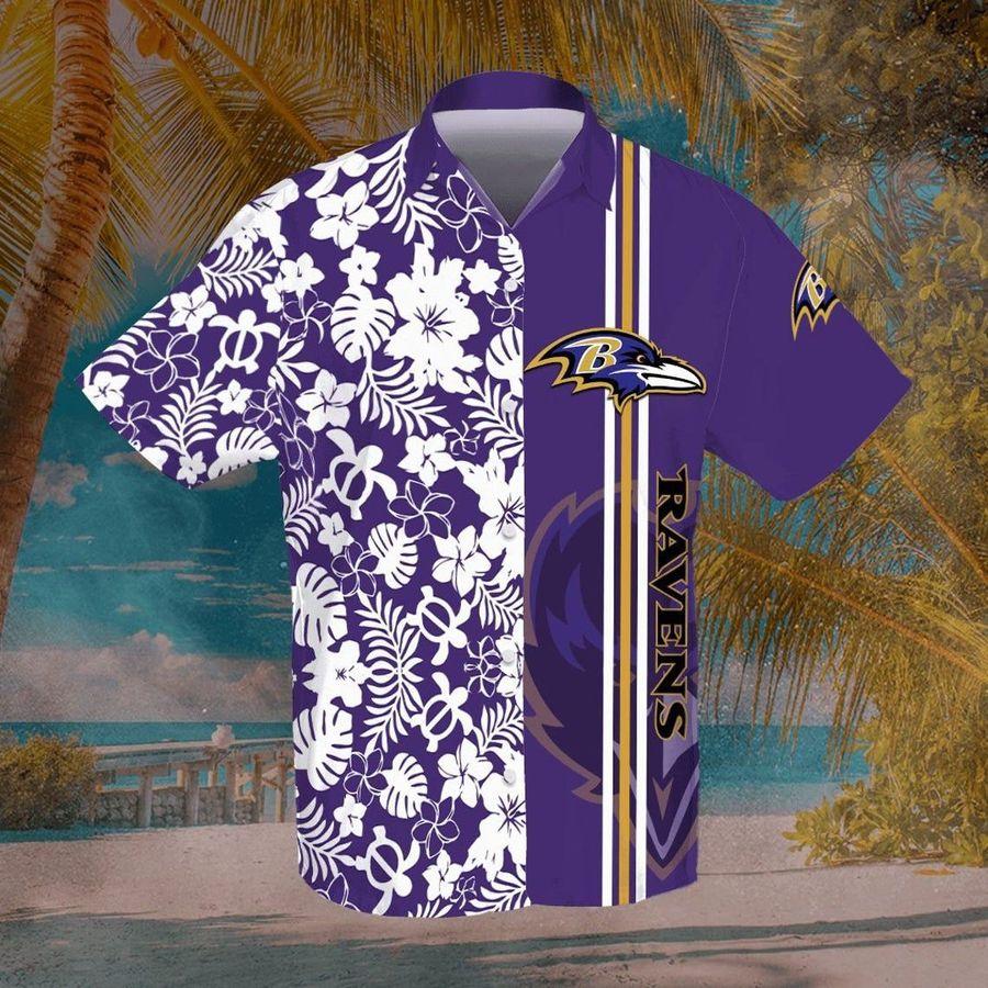 Baltimore ravens nfl football hawaiian shirt summer casual short sleeve