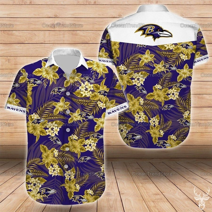 Baltimore ravens nfl football hawaiian shirt