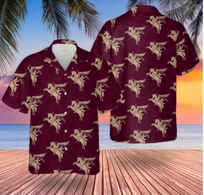 British Army Paras Airborne Forces Pegasus Hawaiian Shirt 1