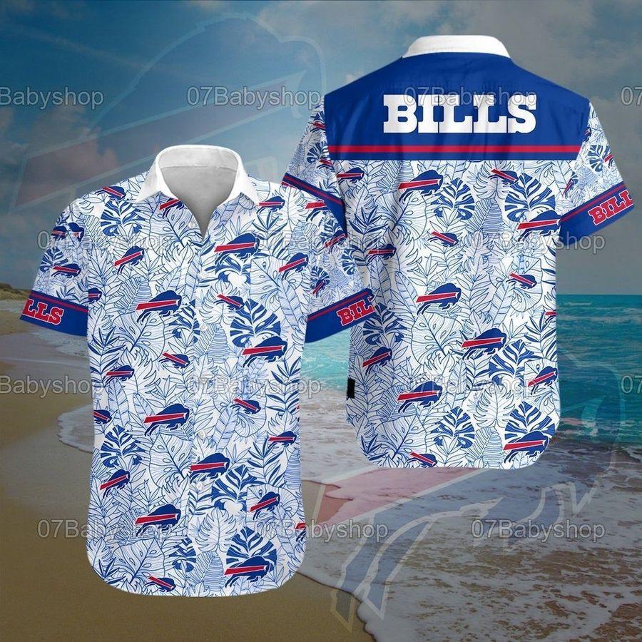 Buffalo bills nfl football hawaiian shirt summer casual short sleeve