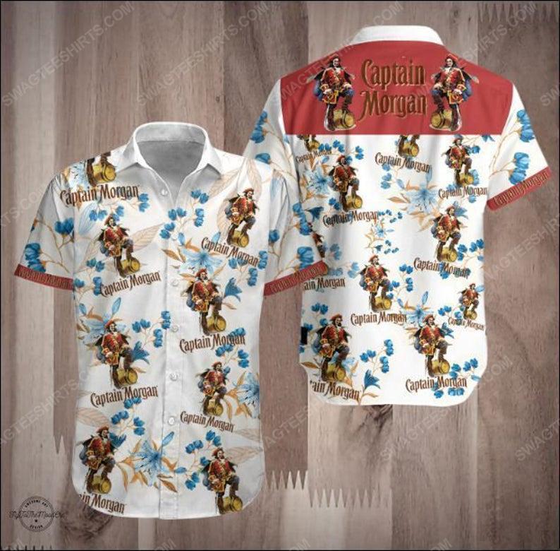 Captain morgan dark rum summer party hawaiian shirt 1