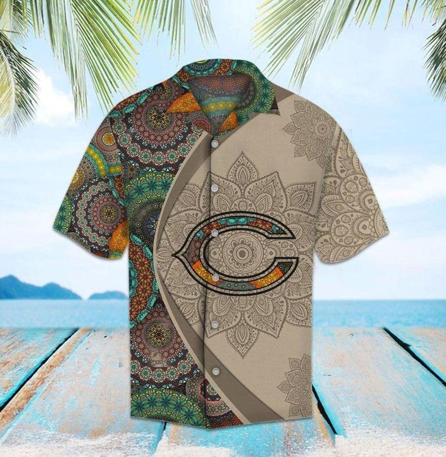 Chicago bears mandala nfl football hawaiian shirt
