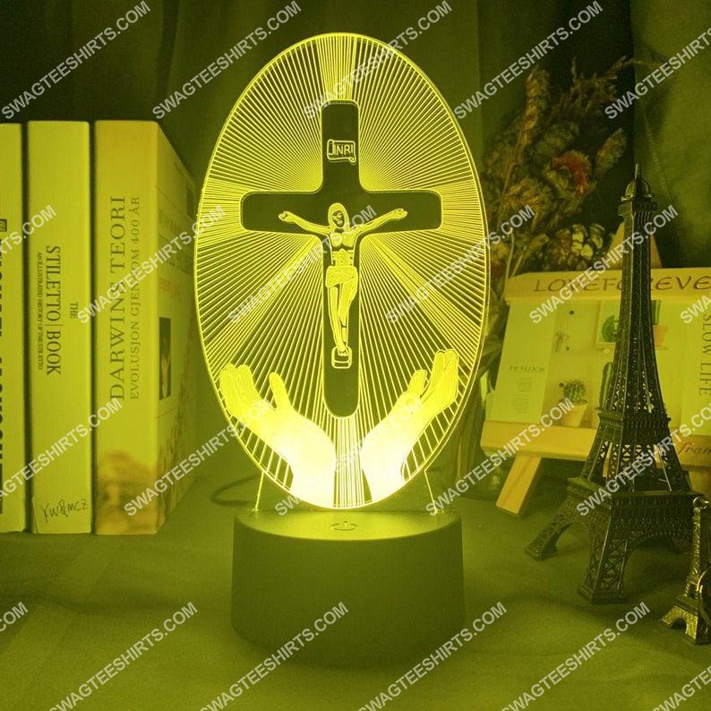 Christian Jesus Cross 3d night light led 21