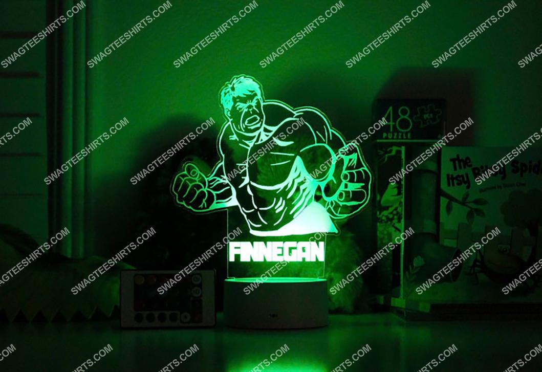 Custom name hulk marvel comic 3d night light led 21