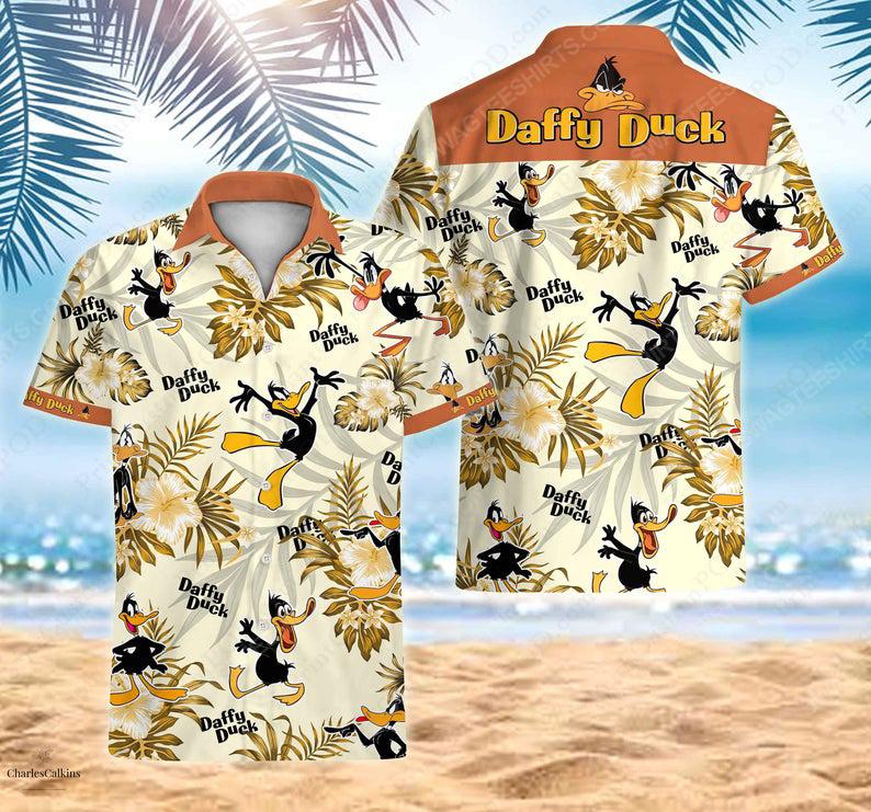 Daffy duck bugs bunny cartoon warner bros hawaiian shirt 1