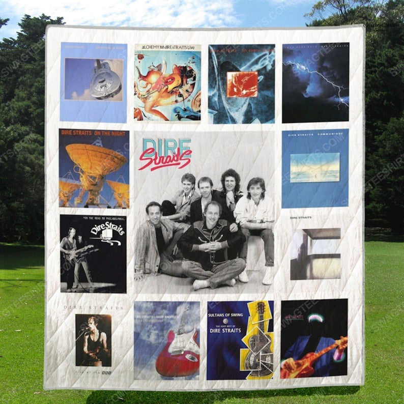 Dire straits albums cover all over print quilt 1