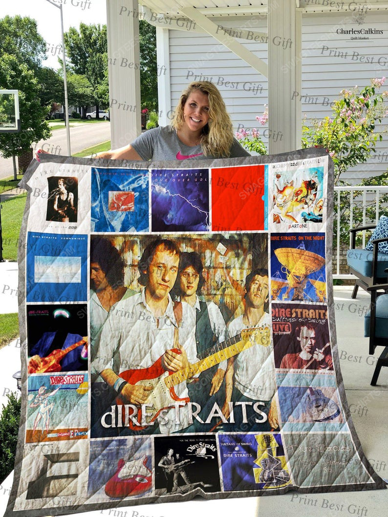 Dire straits albums cover all over printed quilt 1