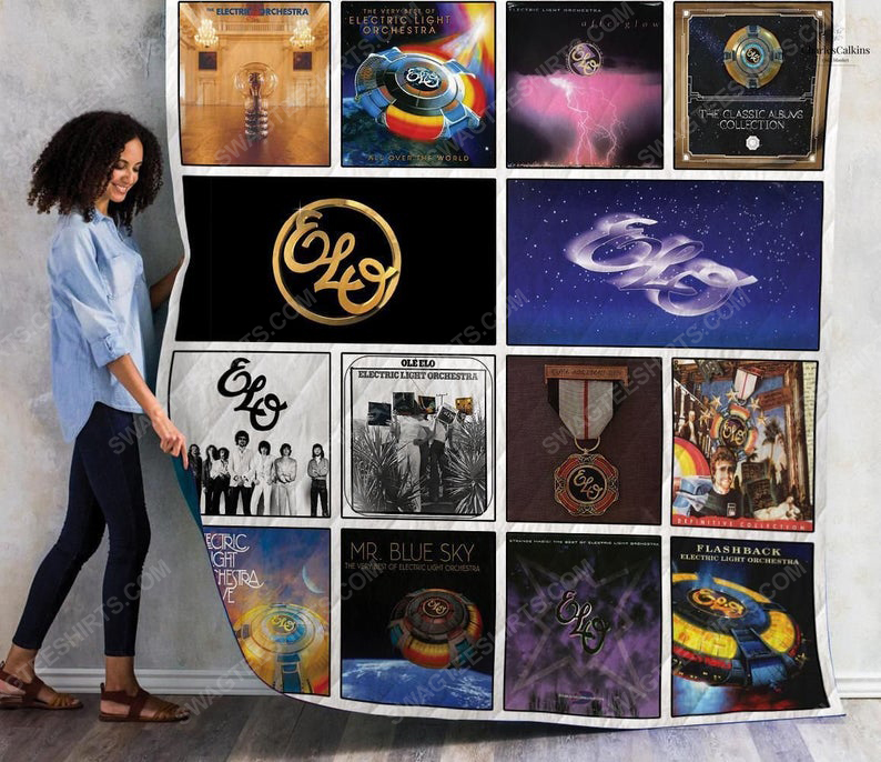 Electric light orchestra albums cover all over print quilt 1
