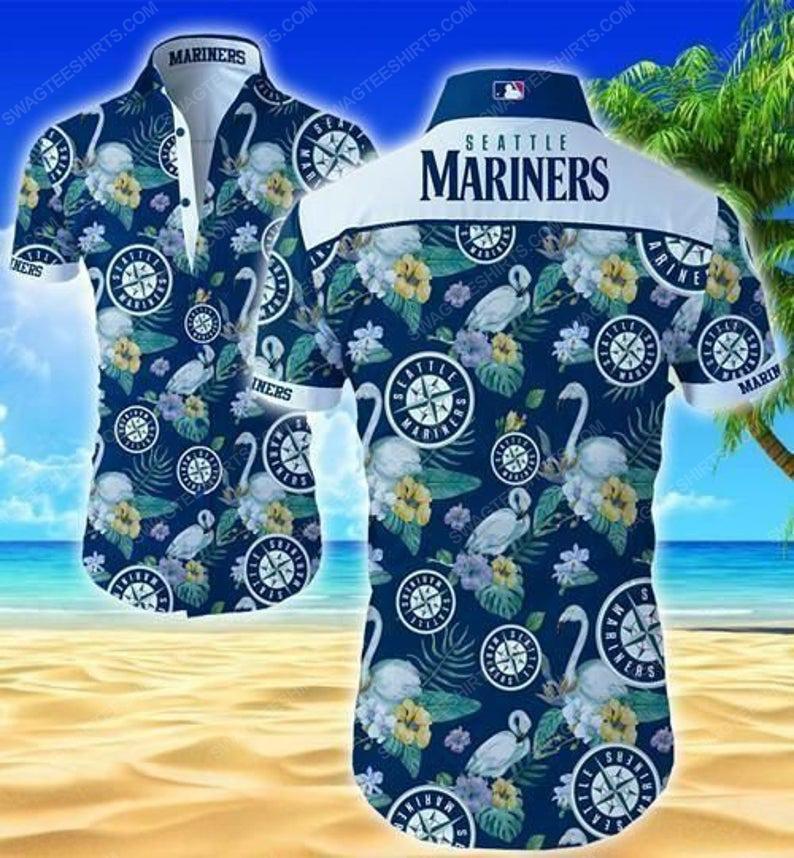 Floral seattle mariners mlb summer vacation hawaiian shirt 1
