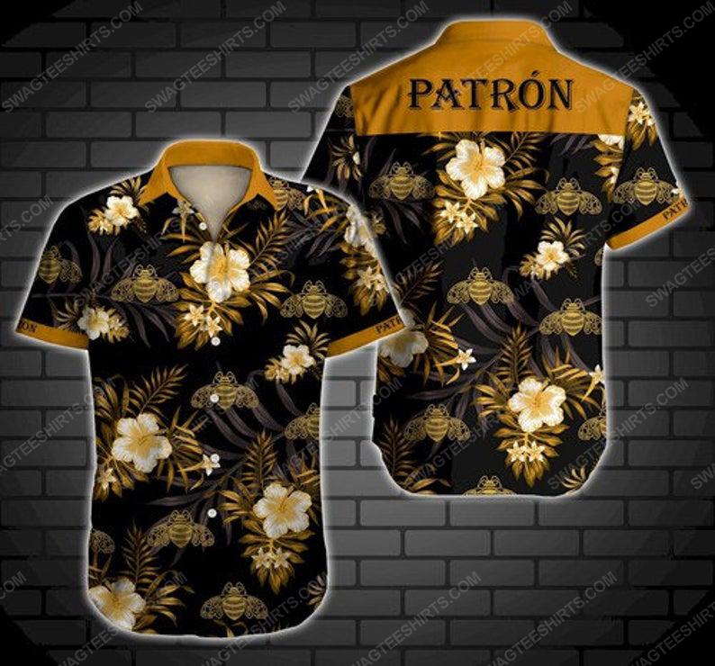 Floral tequila patron summer vacation hawaiian shirt 1