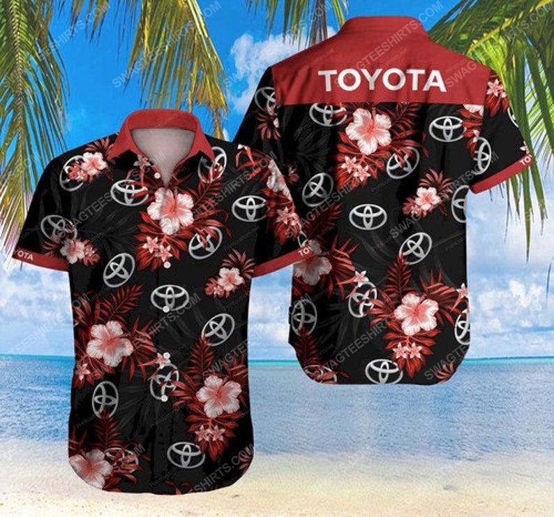 Floral toyota car summer vacation hawaiian shirt 1