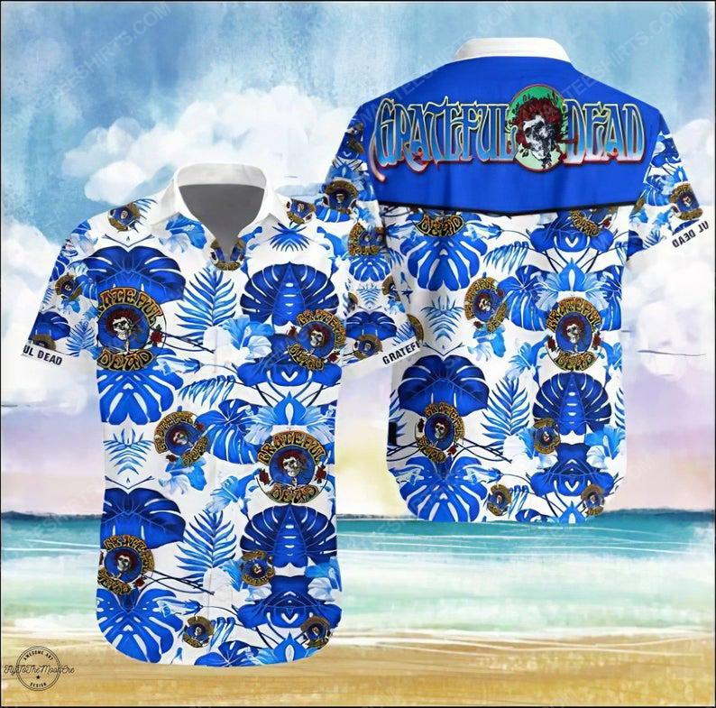 Grateful dead music rock band summer vacation hawaiian shirt 1