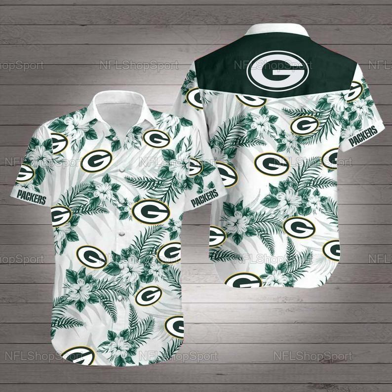 Green bay packers nfl football hawaiian shirt