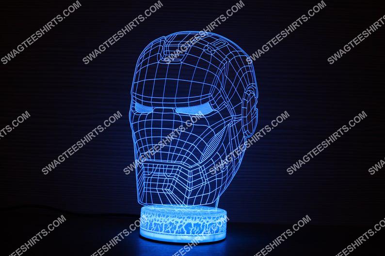 Ironman helmet avengers marvel studios 3d night light led 21