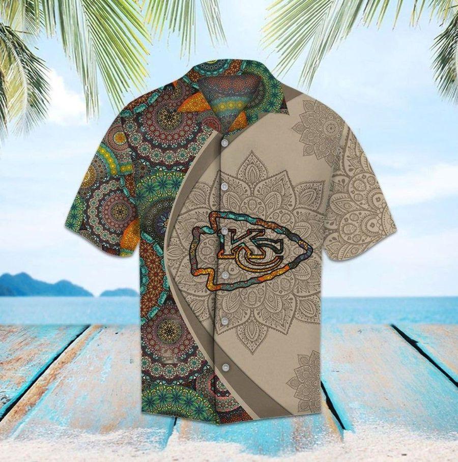 Kansas city chiefs mandala nfl football hawaiian shirt