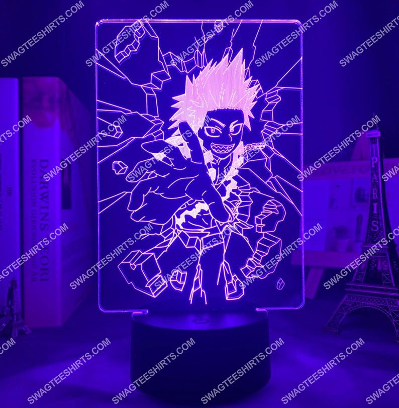 Kirishima eijirou my hero academia anime 3d night light led 21