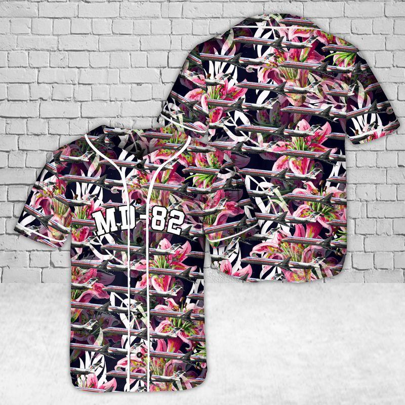 MD 82 Lily flower baseball shirt