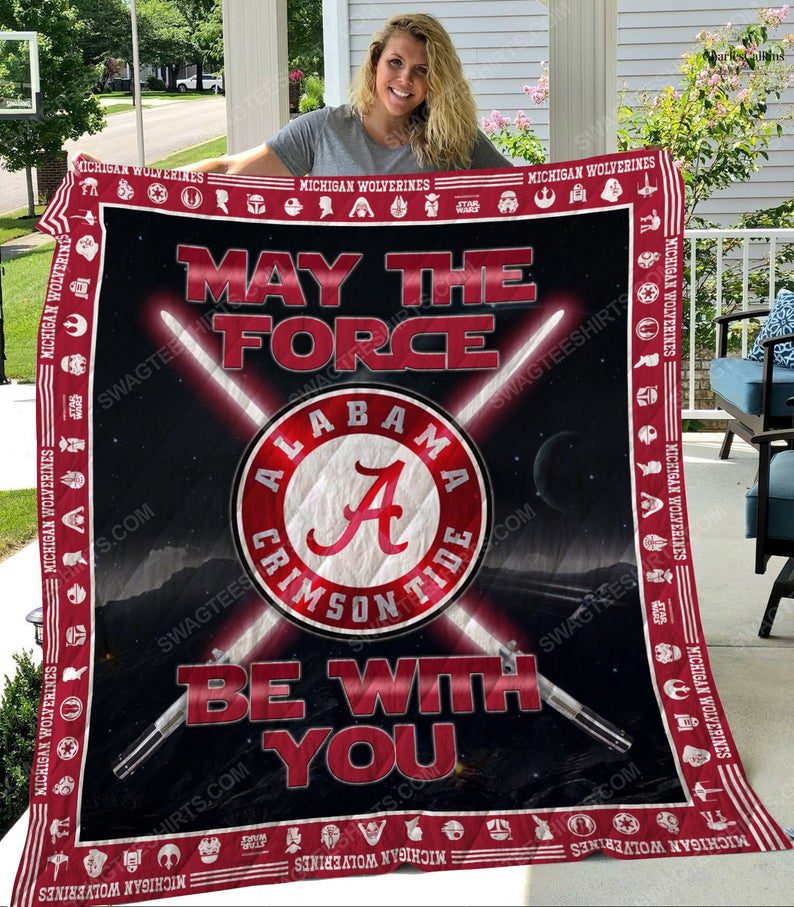 May the force be with alabama crimson tide all over print quilt 1