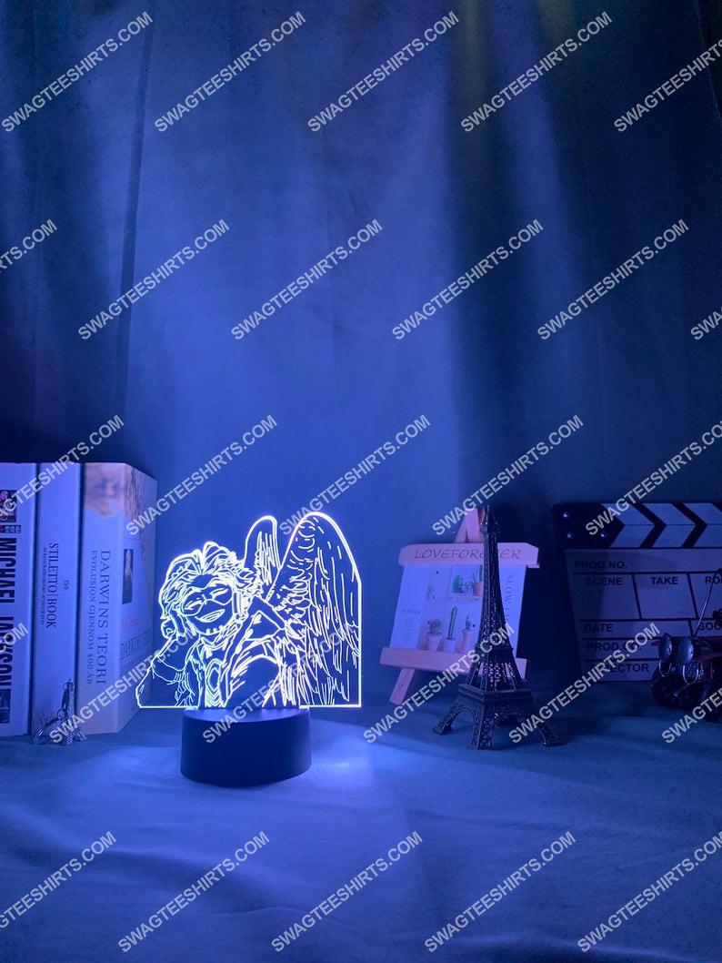 My hero academia hawks anime 3d night light led 21