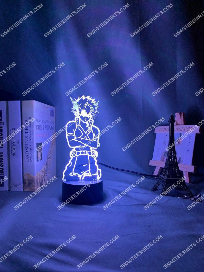 My hero academia katsuki bakugoe 3d night light led 21