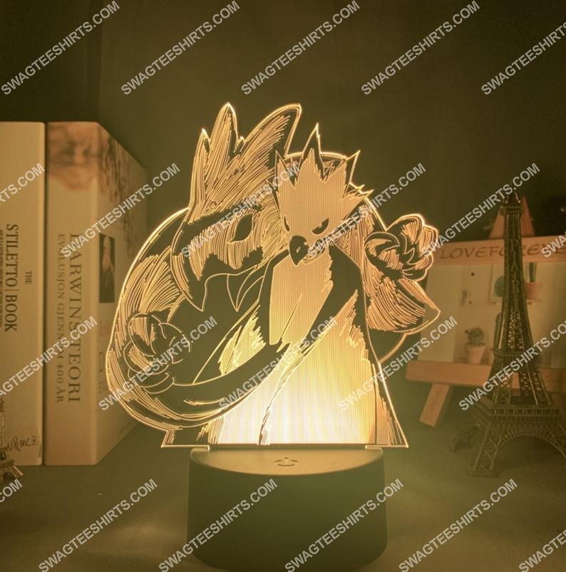 My hero academia tokoyami fumikage figure 3d night light led 21