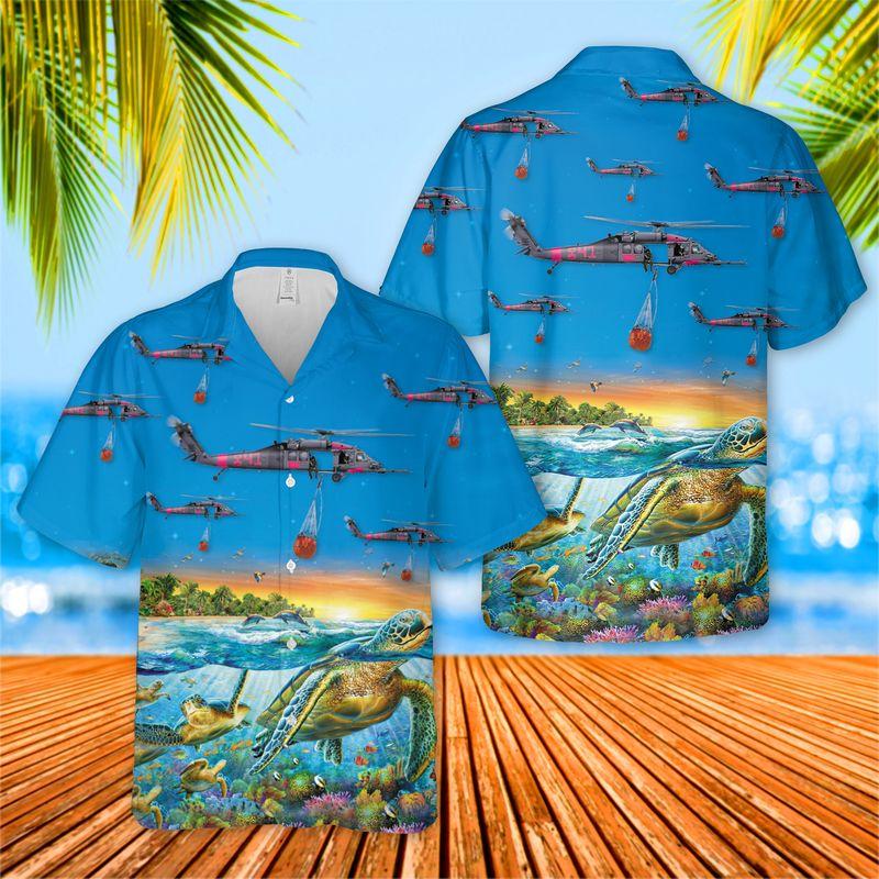 Pave Hawk turtle ocean Hawaiian shirt and short
