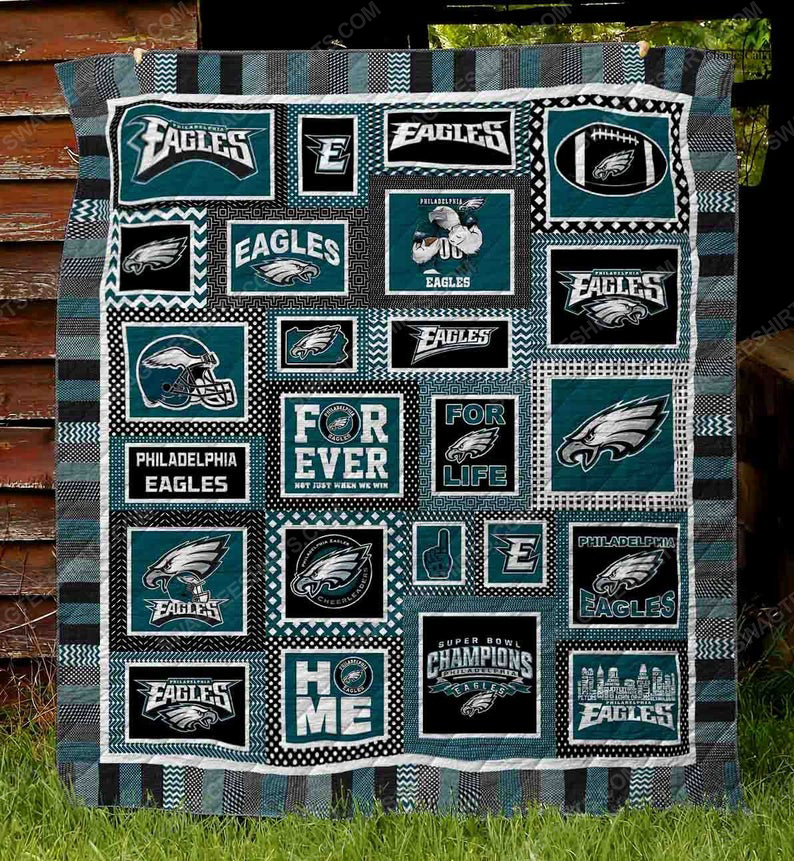 Philadelphia eagles football team all over printed quilt 1