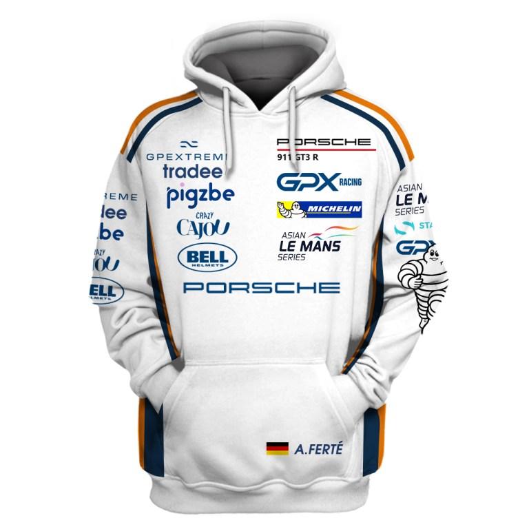 Porsche gpx martini racing 3d hoodie and zip hoodie