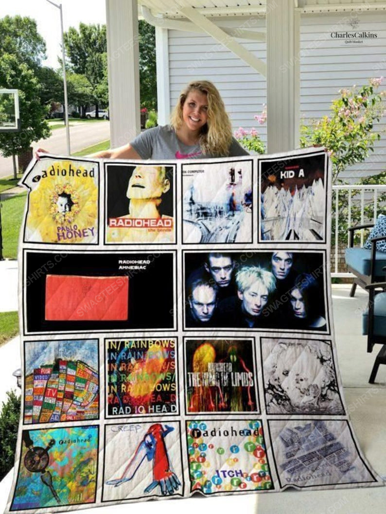 Radiohead albums cover all over print quilt 1