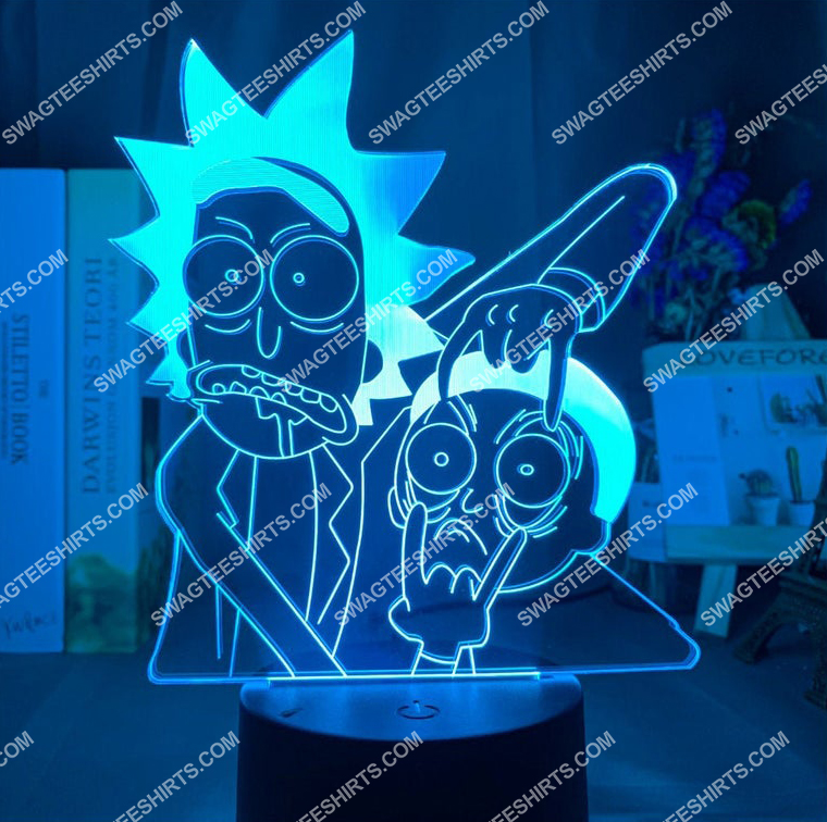 Rick and morty tv show 3d night light led 21