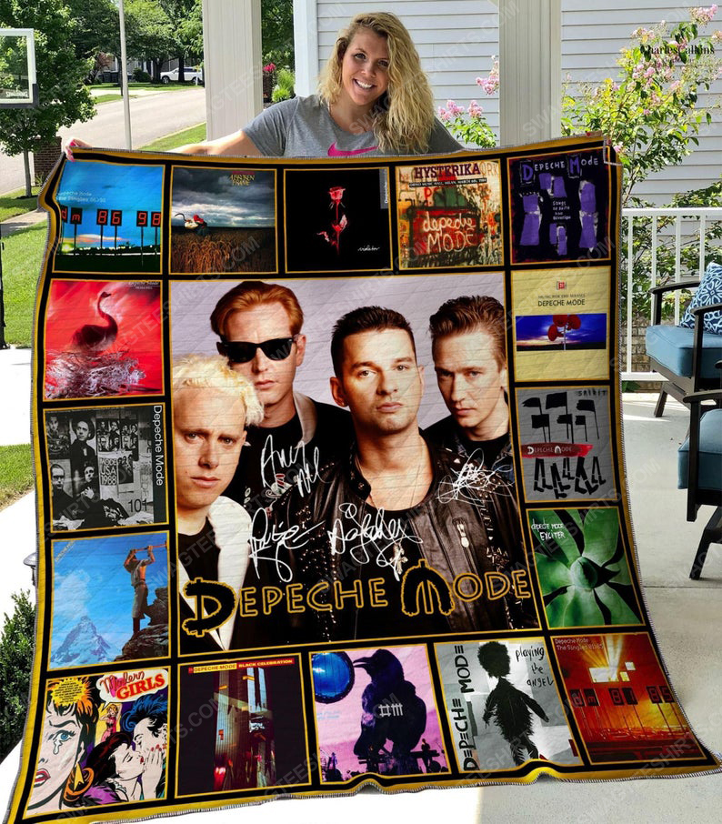 Rock band depeche mode vintage all over print quilt 1