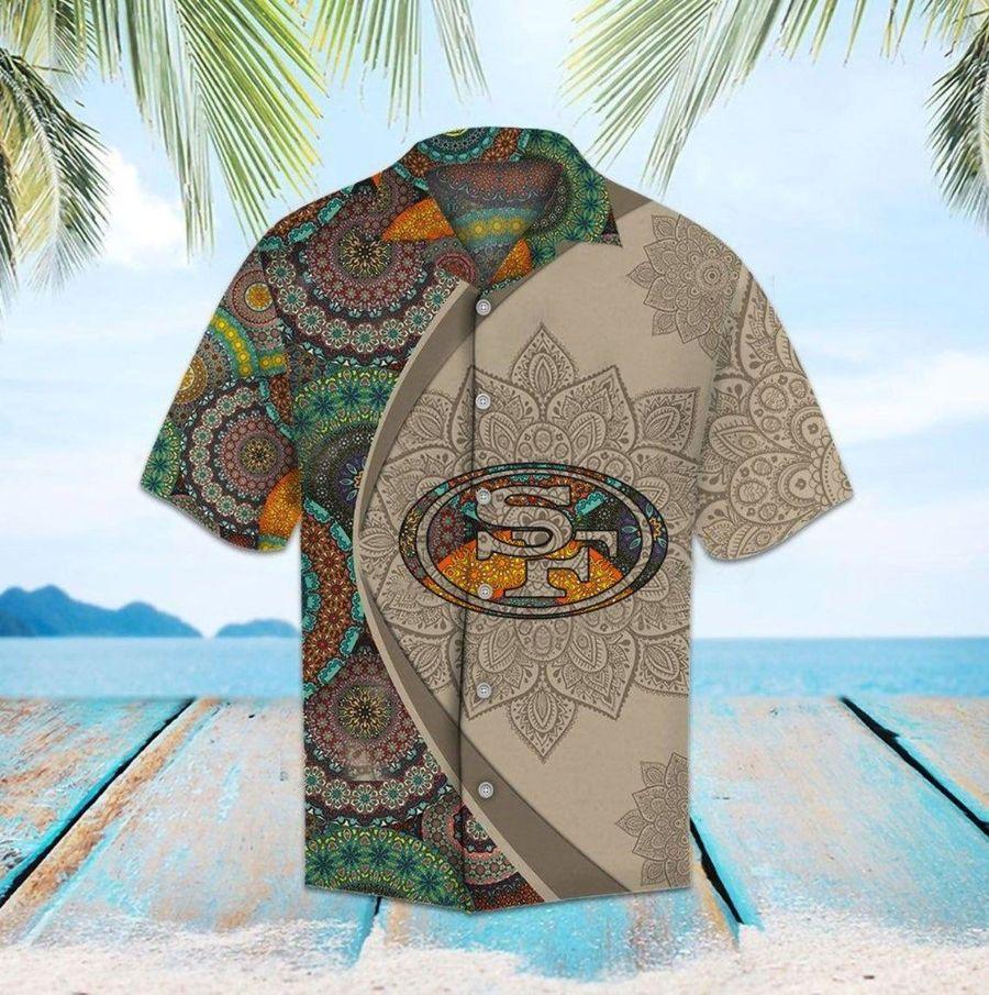 San francisco 49ers mandala nfl football hawaiian shirt
