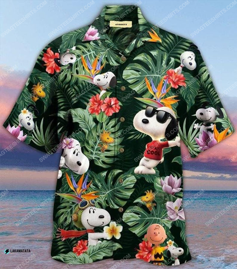 Snoopy and woodstock cartoon disney movie hawaiian shirt 1
