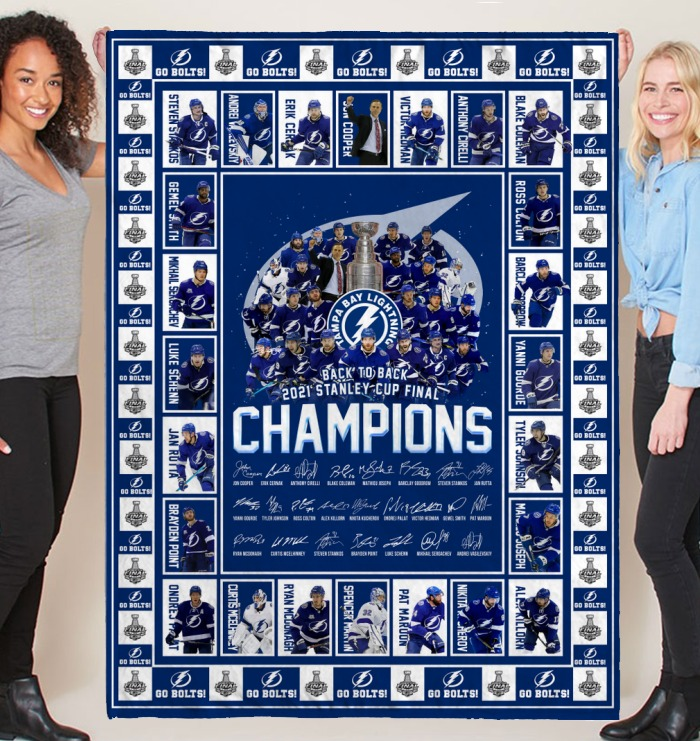 Tampa Bay Lighting 2021 Champions Stanley cup final blanket