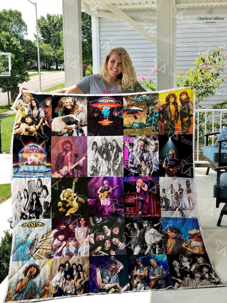 The boston band album cover all over print quilt 1