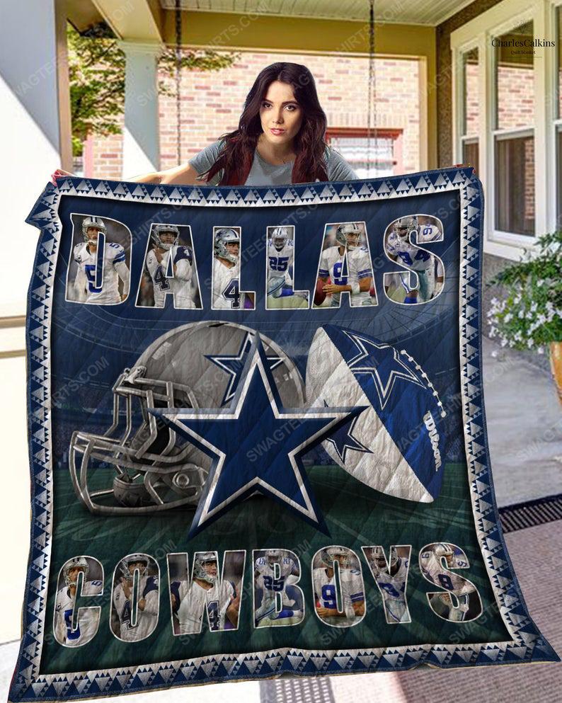 The dallas cowboys football team full printing quilt 1