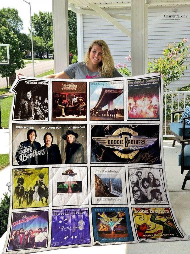 The doobie brothers albums cover all over print quilt 1