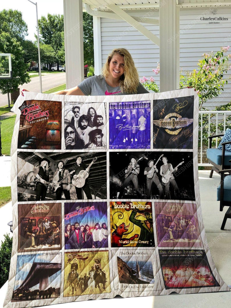 The doobie brothers albums cover rock band full printing quilt 1
