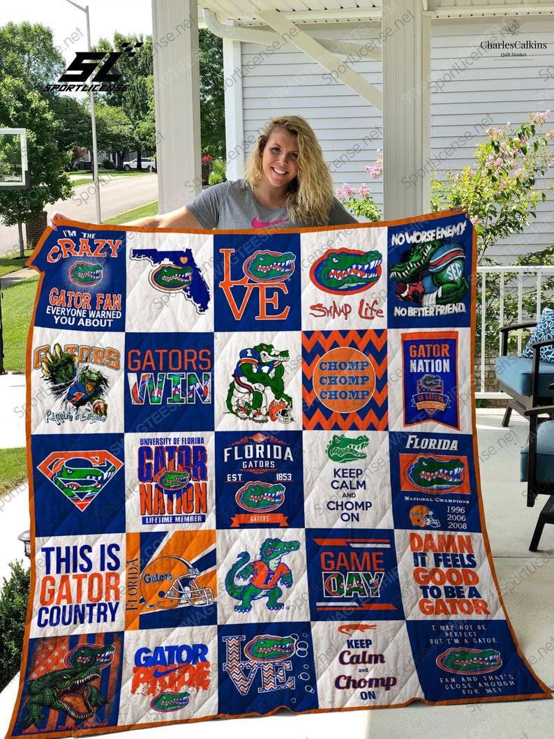 The florida gators football team all over print quilt 1