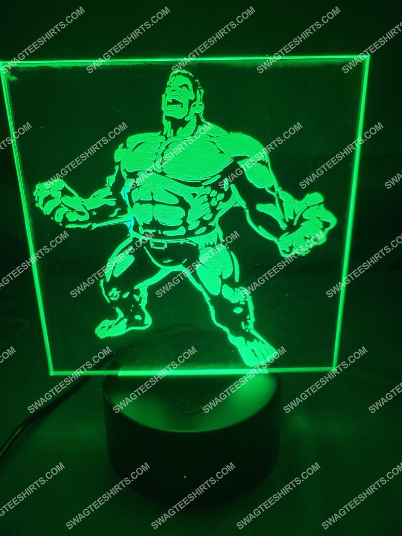The incredible hulk marvel studios 3d night light led 21